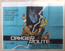 Danger Route, Original UK Quad Poster, Diana Dors, Richard Johnson, '67